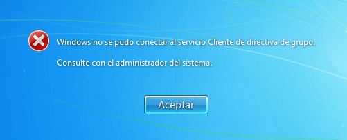 solucionar error Windows